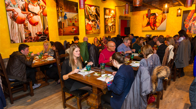 A Whistler restaurant filled with diners during Cornucopia